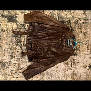 Scott's men's leather jacket